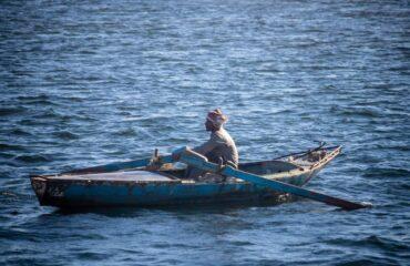 Pescador en el Nilo