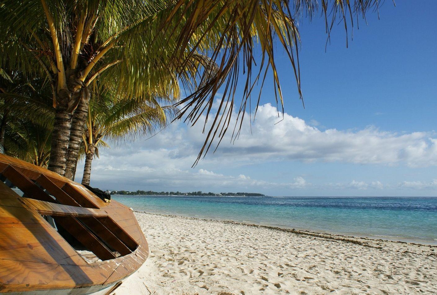 Vista de playa de Mauricio