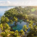 Vista aérea de Trou Aux Biches Beachcomber, Mauricio