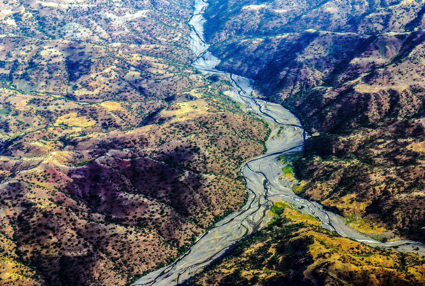 Vista aérea de Etiopía