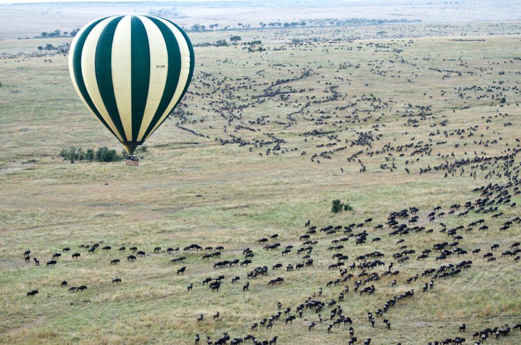 Gran Migración, globo aerostático